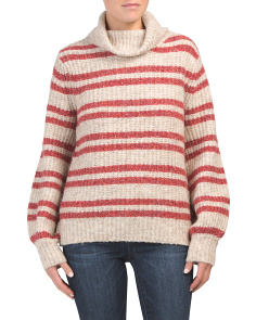 Juniors Recovery Stripe Turtleneck Sweater