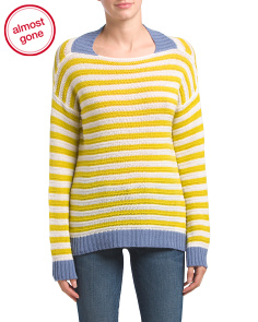 Made In Italy Striped Cashmere Sweater