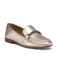 Leather Collapsable Heel Loafers
