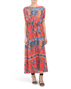 Made In Usa Kimono Maxi Dress