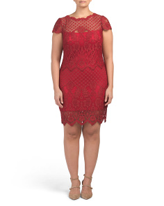 Plus All Over Lace Dress