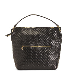 Made In Italy Patent Leather Quilted Hobo