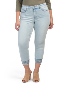 Plus Ami Embroidered Skinny Jeans