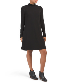 Mock Neck Swing Knit Dress
