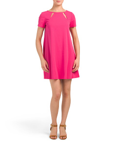 Made In Usa Petite Jersey Trapeze Dress