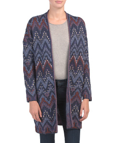 Ikat Stitch Cardigan