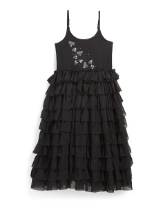 Girls Ruffle Bee Spoke Dress