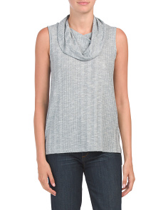 Sleeveless Cowl Neck With Hi-lo Hem