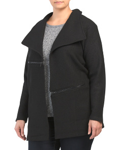 Plus Wing Collar Cardigan Jacket