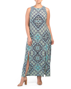 Plus Medallion Maxi Dress