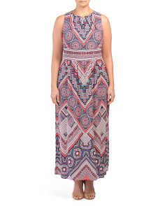 Plus Printed Maxi Dress
