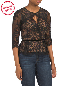 Lace Top With Keyhole