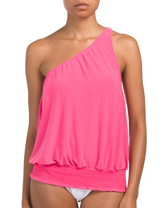 Raquel One Shoulder Tankini Top