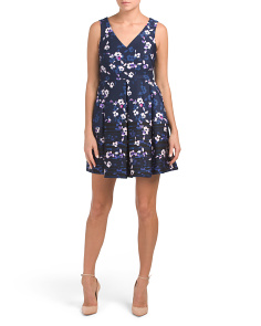 Petite Floral Printed Party Dress