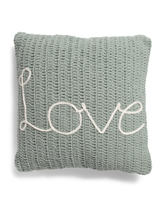 20x20 Textured Cotton Embroidered Pillow