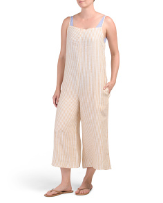 Linen Capri Jumpsuit Cover-up
