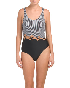 Monokini Swimsuit With Criss Cross Loop