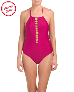 Plunging Ladder Front One-piece Swimsuit