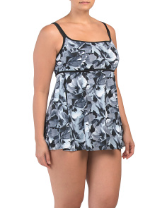 Plus In The Garden Empire Swim Dress