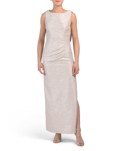 Petite Sleeveless Gown With Cowl Back