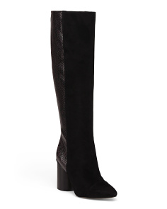 Suede High Shaft Boots