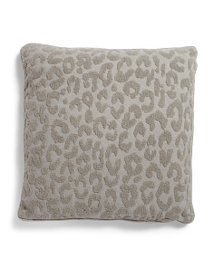 22x22 Textured Animal Pattern Pillow