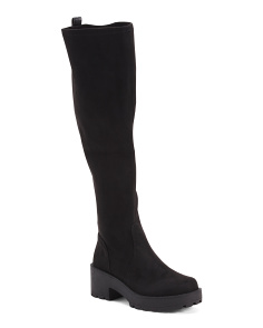 Knee High Lug Sole Boots