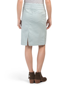 8d2f33e42f4e ... Hi Waist Triple Button Denim Skirt