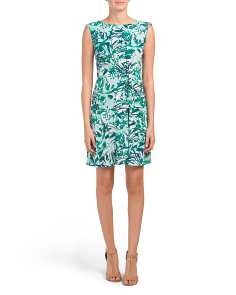 Palm Printed Sleeveless Dress