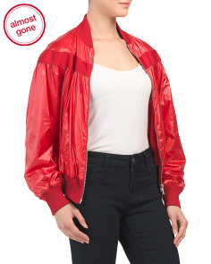 Lightweight And Shiny Bomber Jacket