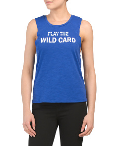 Play The Wildcard Tank Top