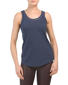 Stitched Neck Detail Tank Top