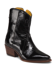 New Frontier Patent Leather Western Boots