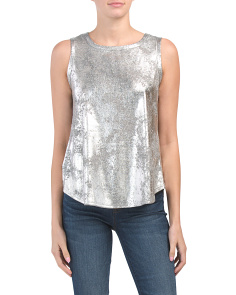 Made In Usa Metallic Cloud Print Tank
