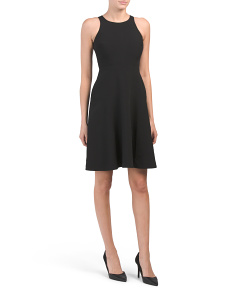 Petite Solid Stretch Woven Dress