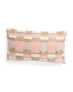 14x24 Textured Modern Pillow