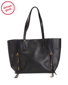 Made In Italy Medium Milo Leather Tote