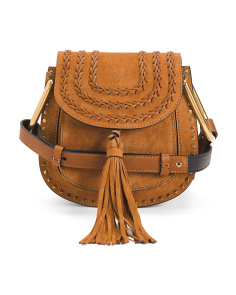 Made In Italy Hudson Small Suede Crossbody