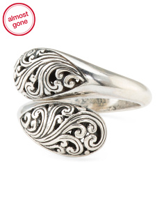Made In Bali Sterling Silver Filigree Bypass Ring