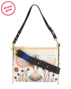 Made In Italy Roy Printed Leather Clutch Crossbody