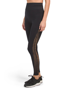 High Waist Seamless Lattice Leggings