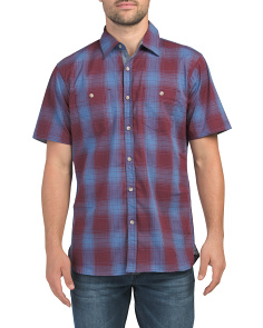 William Short Sleeve Plaid Shirt