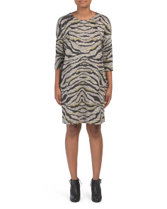 Made In Italy Animal Print Knit Dress