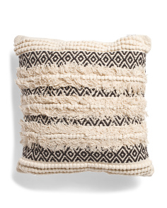 20x20 Textured Fringe Pillow