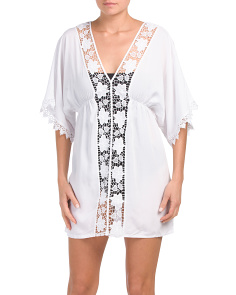 Lace Center Tunic Cover-up