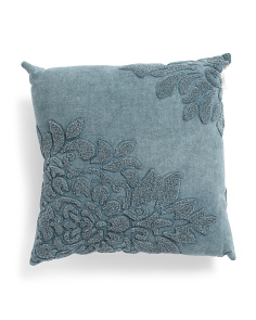 20x20 Stone Washed Vine Pillow
