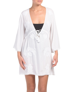 Paisley Embroidered Cover-up Tunic