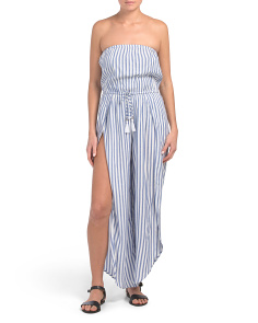 Striped Cover-up Jumpsuit