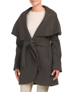 Marla Wrap Wool Blend Coat