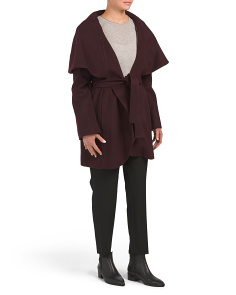 Wool Blend Marla Wrap Coat